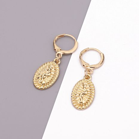 retro engraving snake oval pendant ear ring ethnic wind punk ring earring wholesale nihaojewelry NHGO230079's discount tags