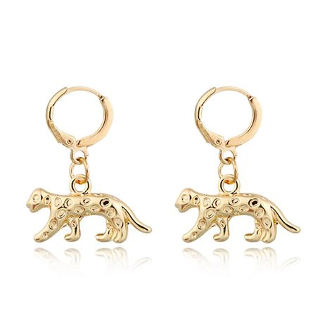 Joyería caliente hombres y mujeres punk pendientes de leopardo de aleación retro animal ear ring venta al por mayor nihaojewelry NHGO230081's discount tags
