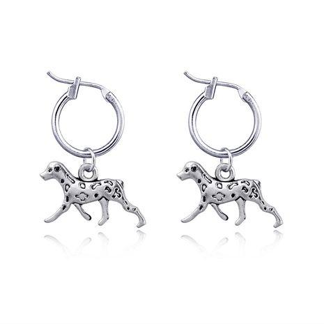 nouvelles boucles d'oreilles rétro mignon en trois dimensions spot chien animal alliage pendentif anneau d'oreille en gros nihaojewelry NHGO230084's discount tags