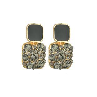Silver Needle baroque retro rhinestone earrings simple earrings jewelry wholesale nihaojewelry NHBQ230126's discount tags
