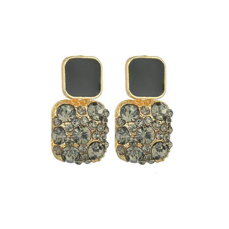 Silver Needle baroque retro rhinestone earrings simple earrings jewelry wholesale nihaojewelry NHBQ230126