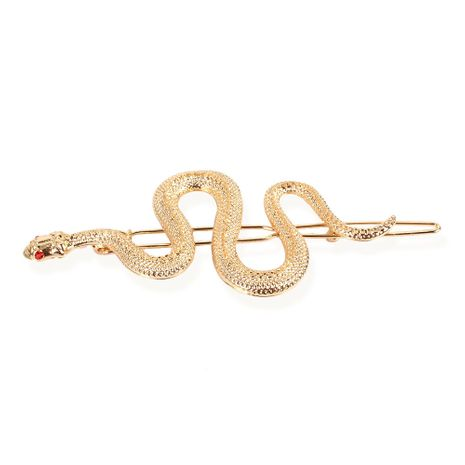 fashion style simple metal side clip creative serpentine hair clip headdress wholesale nihaojewelry NHCT230205's discount tags