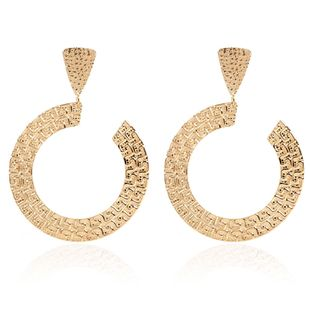 exaggerated geometric metal earrings jewelry fashion earrings wholesale nihaojewelry NHCT230211's discount tags