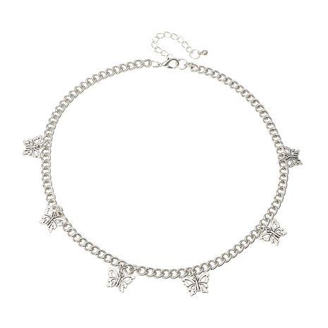 bijoux de mode punk tendance ras du cou chaîne chaîne sauvage argent papillon pendentif collier en gros nihaojewelry NHNZ230250's discount tags