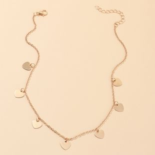 fashion jewelry sweet love necklace wild peach heart pendant clavicle chain wholesale nihaojewelry NHNZ230253's discount tags