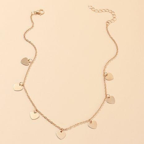 bijoux de mode doux amour collier pêche sauvage coeur pendentif clavicule chaîne en gros nihaojewelry NHNZ230253's discount tags