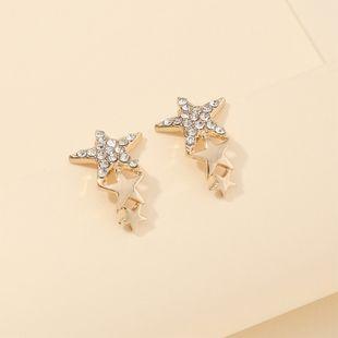 fashion jewelry creative popular pentagram earrings wholesale nihaojewelry NHNZ230254's discount tags