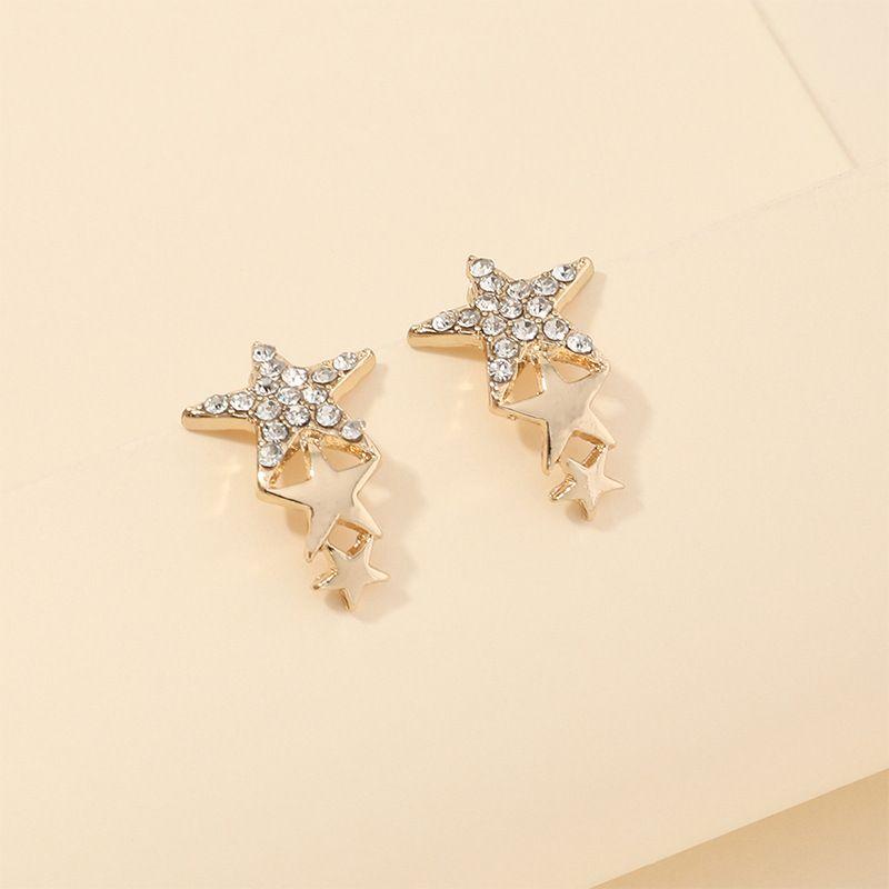 fashion jewelry creative popular pentagram earrings wholesale nihaojewelry NHNZ230254