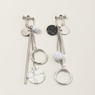 fashion jewelry asymmetric tassel earrings geometric round turquoise earrings wholesale nihaojewelry NHNZ230257's discount tags