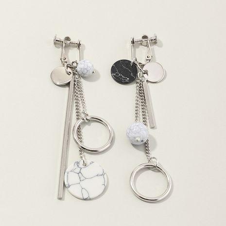 bijoux de mode asymétrique gland boucles d'oreilles géométrique rond turquoise boucles d'oreilles en gros nihaojewelry NHNZ230257's discount tags