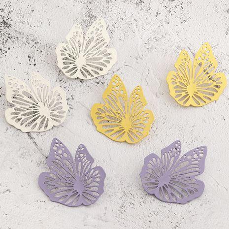 bijoux de mode rétro français creux peinture boucles d'oreilles haute sens boucles d'oreilles en gros nihaojewelry NHNZ230258's discount tags
