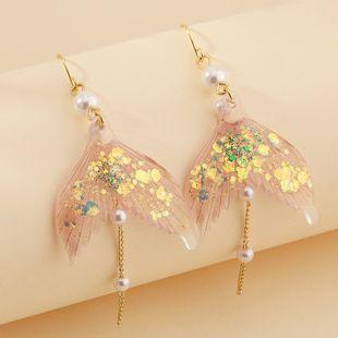 fashion jewelry super fairy dream fish tail earrings elegant pearl earrings wholesale nihaojewelry NHNZ230269's discount tags