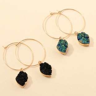 fashion jewelry imitation natural stone earrings simple geometric round earrings wholesale nihaojewelry NHNZ230272's discount tags