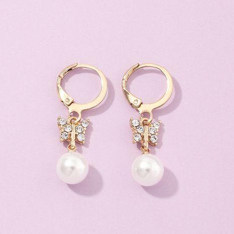 bijoux de mode boucles d'oreilles diamant romantique boucles d'oreilles perles sauvages en gros nihaojewelry NHNZ230273's discount tags