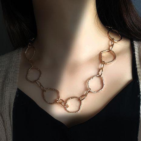 collier de rue de mode style punk créatif simple cercle en métal verrouillage collier creux en gros nihaojewelry NHMD230279's discount tags