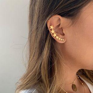 earrings fashion unilateral pentagram ear clips star clip earrings wholesale nihaojewelry NHOT222307's discount tags
