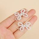 fashion pearl woven butterfly earrings Korean earrings wholesale nihaojewelry NHLA222315