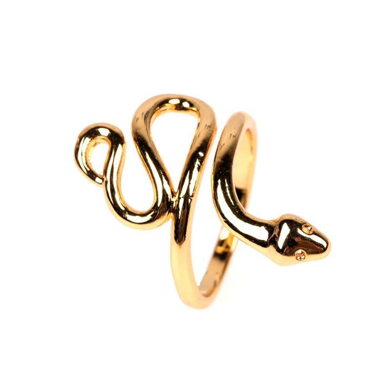 new retro snake-shaped ring opening adjustable small snake winding personality simple ring wholesale nihaojewelry NHPY222319