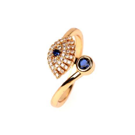 style creative devil's eyes open ring fashion index finger zircon ring wholesale nihaojewelry NHPY222321's discount tags