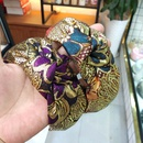 fashion style widebrimmed simple knotted headband printed color gold silk hair accessories wholesale nihaojewelry NHUX222342