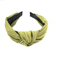 Korean fashion widebrimmed pleated knot headband highend solid color fabric pressure hairpin explosion headband ladies wholesale nihaojewelry NHUX222354