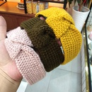 Korean fashion new knitted wool knotted headband widebrimmed solid color simple hair accessories fashion wild headband ladies wholesale nihaojewelry NHUX222358