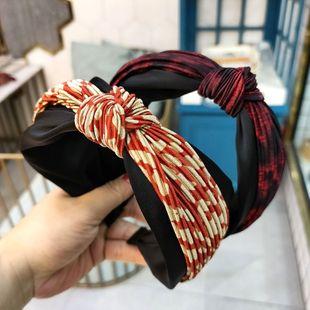 Moda coreana superventas patrón de leopardo simple diadema anudada moda hit color a juego impresión en color horquilla retro presión diadema venta al por mayor nihaojewelry NHUX222364's discount tags