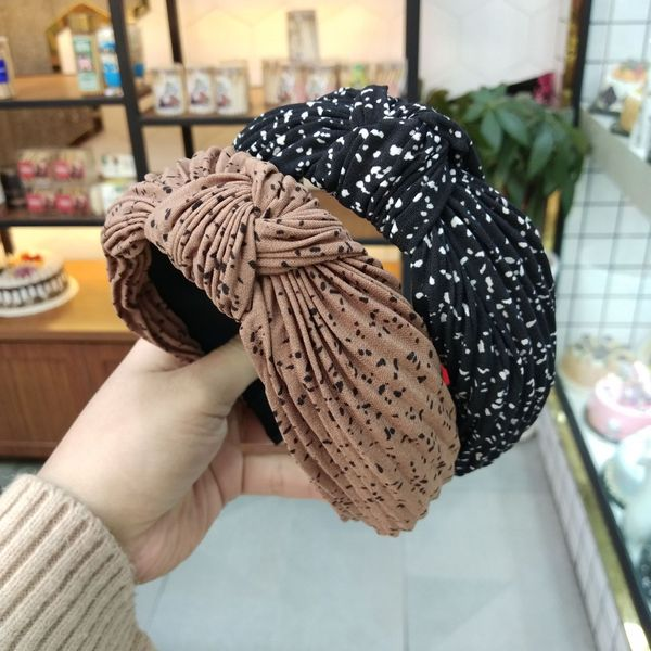 fashion  new korean simple  crumpled knotted hair hoop style pleated headband wholesale nihaojewelry NHUX222365