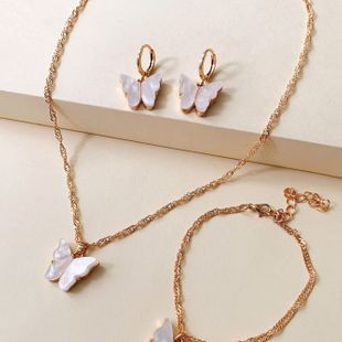 fashion wild accessories popular color butterfly necklace clavicle chain wholesale nihaojewelry NHJJ222378's discount tags