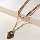 new alloy necklace simple fashion golden heartshaped clavicle necklace twopiece wholesale nihaojewelry NHJJ222386