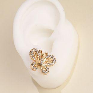 Korea new hollow inlaid rhinestone butterfly temperament earrings super fairy wholesale nihaojewelry NHJJ222397's discount tags