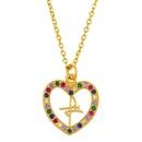 collier bijoux simple pche en forme de coeur collier temprament amour sauvage pendentif chane de clavicule en gros nihaojewelry NHAS222411