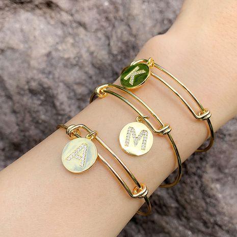 bracelet popular push-pull bracelet 26 alphabet bracelet creative alphabet bracelet wholesale nihaojewelry NHAS222415's discount tags