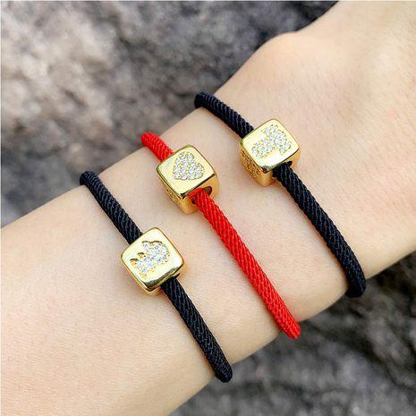 Bracelet new red rope bracelet 26 letter bracelet couple bracelet wholesale nihaojewelry NHAS222425's discount tags