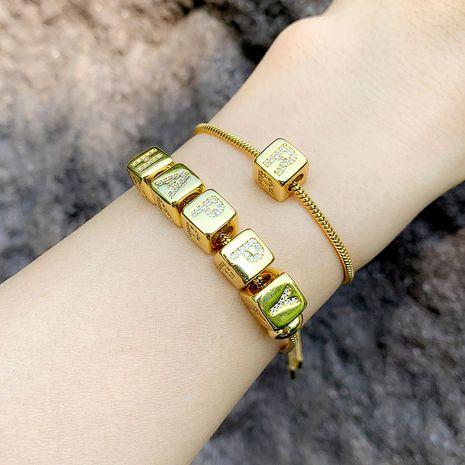 pulsera de la venta caliente de la joyería original de 26 letras pulsera pareja pulsera al por mayor nihaojewelry NHAS222427's discount tags