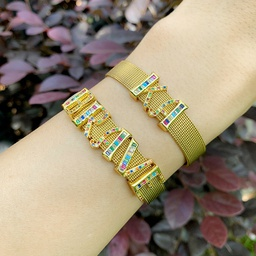 explosion accessories mesh bracelet personality DIY26 letter mesh belt bracelet couple wholesale nihaojewelry NHAS222428