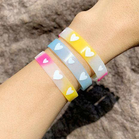 bracelet love heart silicone bracelet custom luminous sports basketball wristband couple bracelet wholesale nihaojewelry NHAS222430's discount tags