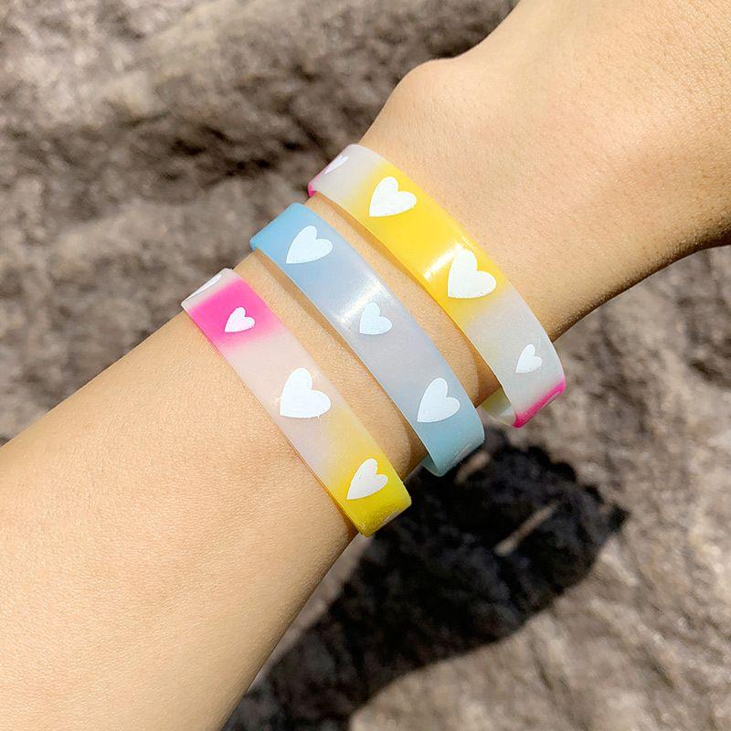 bracelet love heart silicone bracelet custom luminous sports basketball wristband couple bracelet wholesale nihaojewelry NHAS222430
