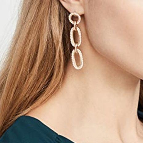 new trend jewelry simple long geometric oval pearl earrings wholesale nihaojewelry NHMD222433's discount tags