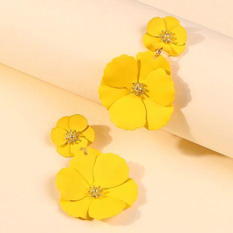 Hot-vente forêt fleur boucles d'oreilles créative mode alliage peinture en aérosol multicolore fleur boucles d'oreilles en gros nihaojewelry NHMD222434's discount tags
