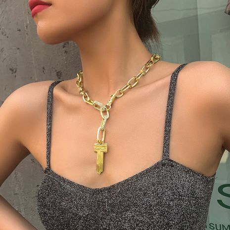 fashion jewelry punk style hip-hop necklace creative key pendant clavicle chain wholesale nihaojewelry NHMD222449's discount tags
