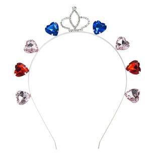 diadema de diamantes de corona de moda coreana creativa super flash color diamante diadema de nieve blanca accesorios para el cabello nupcial venta al por mayor nihaojewelry NHLN222452's discount tags