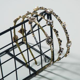 Departamento de moda coreana de accesorios para el cabello de aro de pelo simple y exquisito con incrustaciones de diamantes de imitación diadema de perlas de bordes finos salvajes nihaojewelry al por mayor NHLN222455's discount tags