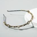 Dpartement de la mode corenne daccessoires de cheveux de cerceau de cheveux simples et exquis incrusts de strass sauvage bandeau de perles  bords fins en gros nihaojewelry NHLN222455