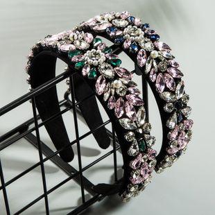 Moda barroca color diamante flores damas salvajes diadema personalidad fiesta perla tela accesorios para el cabello al por mayor nihaojewelry NHLN222468's discount tags