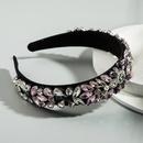 Baroque mode couleur diamant fleurs dames sauvages bandeau personnalit parti perle tissu cheveux accessoires en gros nihaojewelry NHLN222468