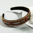 trend rhinestone headband fabric super flash flower wild Baroque widebrimmed hair band highend hair accessories wholesale nihaojewelry NHLN222470