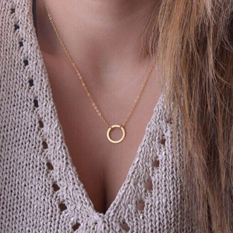 fashion temperament clavicle chain new personality fashion simple circle necklace wholesale nihaojewelry NHGY222479's discount tags