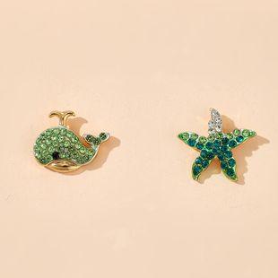 fashion new animal stud earrings korean starfish dolphins earrings wholesale nihaojewelry NHGY222487's discount tags