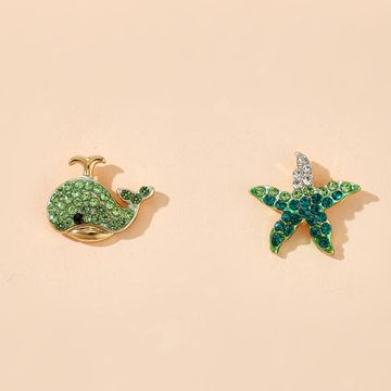 fashion new animal stud earrings korean starfish dolphins earrings wholesale nihaojewelry NHGY222487